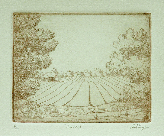 Harvest - Original Etching by Paul Keysar
