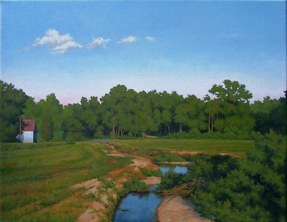 Chaptico, Maryland - Traditional Realism Painting by Paul Keysar