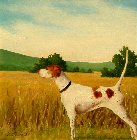 English Pointer - Traditional Realism Painting by Paul Keysar