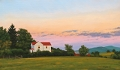 Farm House at Sunset, original oil landscape painting by Paul Keysar of Charlotte, NC