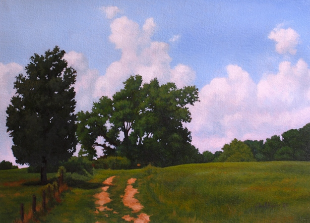 Field Access, Sotterley Plantation - Original Landscape Painting by Paul Keysar