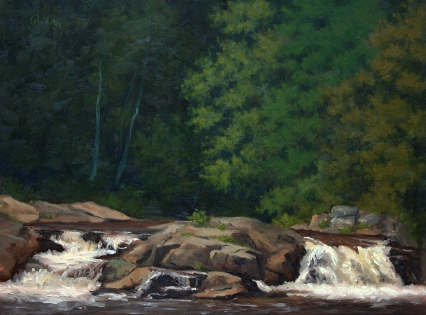 Linville Falls - Classical Realism Plein Air Landscape Painting by Paul Keysar
