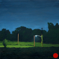 Clydesdale Road, Night, Night Series Landscape painting by Paul Keysar