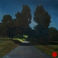 Clydesdale Road, Night, #2, Night Series Landscape painting by Paul Keysar