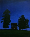 Night Owl, original night series painting by Paul Keysar