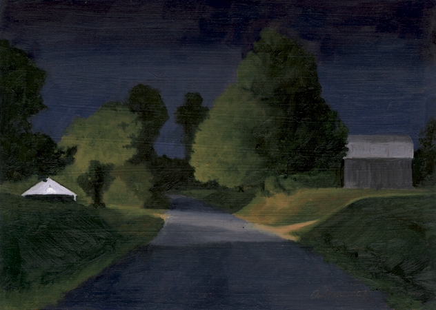 Night on Clydesdale - Traditional Realism Painting by Paul Keysar