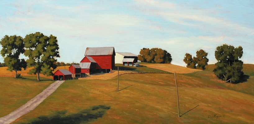 Hilltop Farm - Harford County MD Plein Air Landscape Painting by Paul Keysar