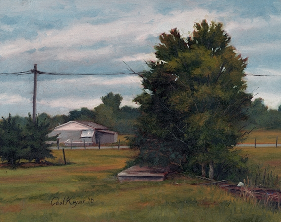 Abandoned Field - Plein Air Landscape Painting by Paul Keysar