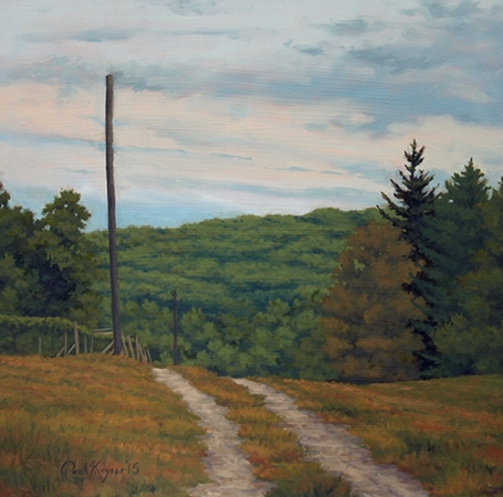 Path to the Vineyard - Plein Air Landscape Painting by Paul Keysar