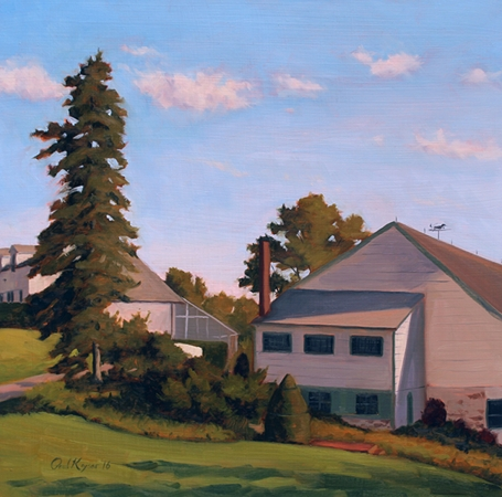 Ladew Topiary Gardens - Harford County MD Plein Air Landscape Painting by Paul Keysar