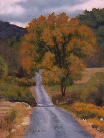 Road to the Jackson River - Bath County VA Plein Air Landscape Painting by Paul Keysar