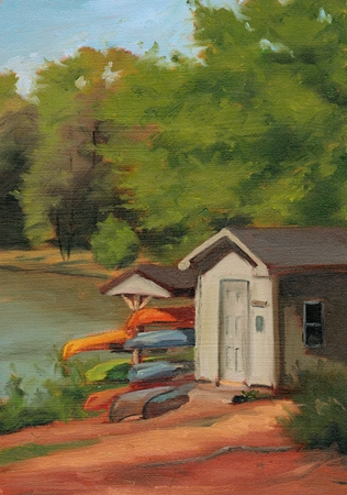 The Yak Shack - Anne Springs Close Greenway Plein Air Landscape Painting by Paul Keysar