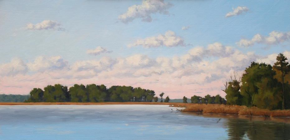 Waterfront View, original plein air painting of Chestertown, MD, by Paul Keysar