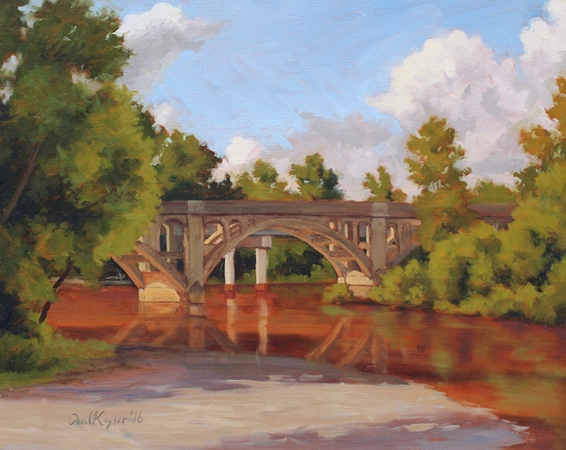 Wil-Cox Bridge, Morning - NC Plein Air Landscape Painting by Paul Keysar