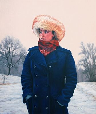 Winter Solstice, post contemporary realism portrait painting by artist Paul Keysar